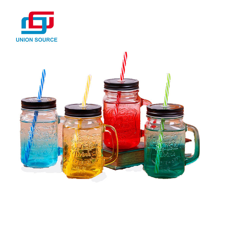 Glass Cup With Straw Customized Different Design