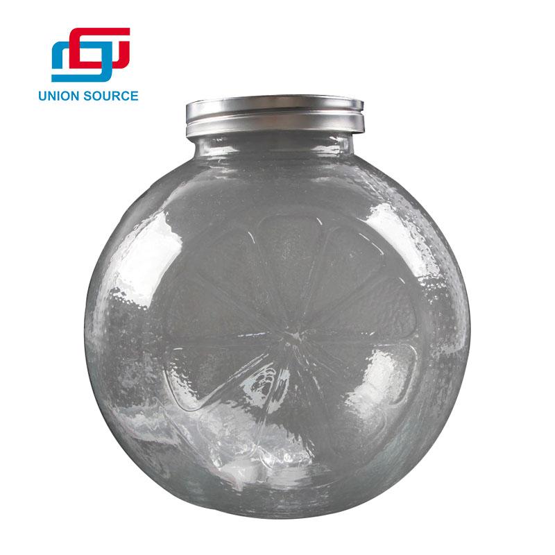 Glass Jar With Transparent Color