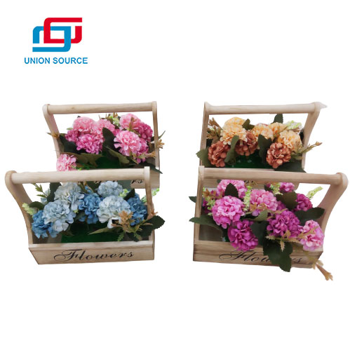 Good Price Artificial Hydrangea Potted Plants For Decoration