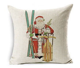 Good Sell Christmas Linen Pillow Home Decor Sofa Cushion Covers Decorative Made In China