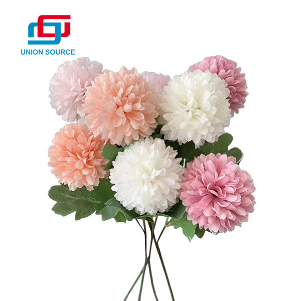 High Quality 2 Heads Ball Chrysanthemum Flowers For Home Usage