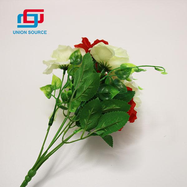 Kiváló minőségű 6 ág tavaszi rózsa virágok mesterséges virágok otthoni dekorációhoz
