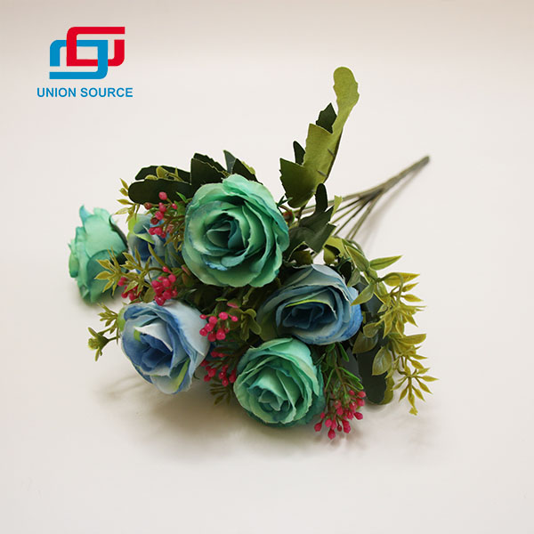 High Quality 7 Heads Oil Painting Rose Bouquet High Simulation Flowers For Home And Wedding