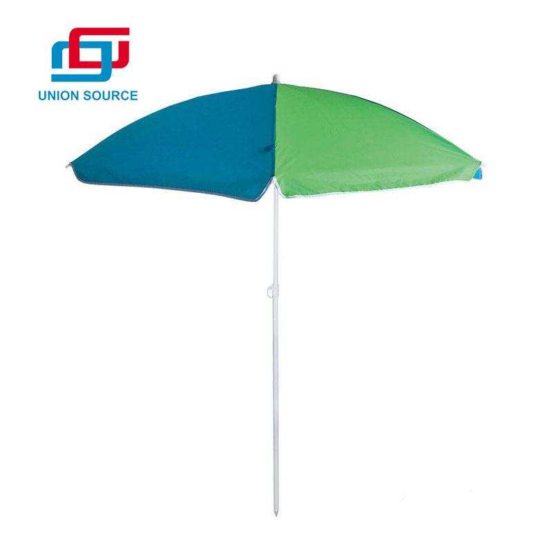 Paraguas de playa al aire libre de poliéster publicitario de alta calidad