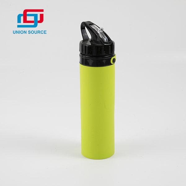 Botella de agua deportiva de silicona duradera de alta calidad