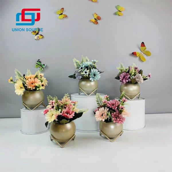 Plantas en conserva de crisantemo hermoso de alta simulación para la decoración