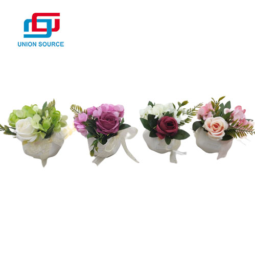 High Simulation Beautiful Price Ceramic Rose Potted Plants For Decoration
