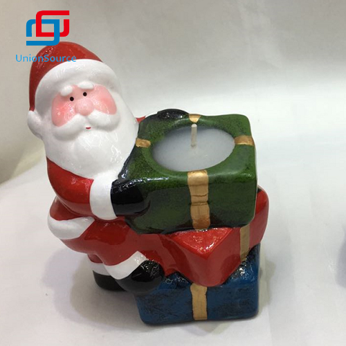 Home Decoration Flutter Floating Flameless Christmas Ceramics Candle Made In China