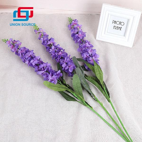 Decoración del hogar Flores violetas de alta simulación Flores de plástico