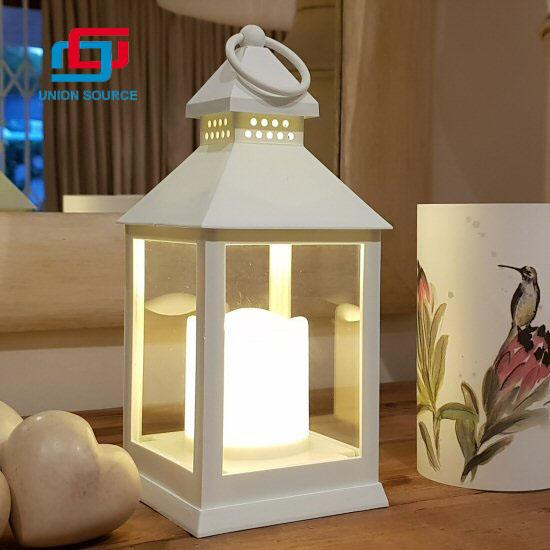 Linterna decorativa casera de la vela que cuelga la linterna de la vela del pilar del LED
