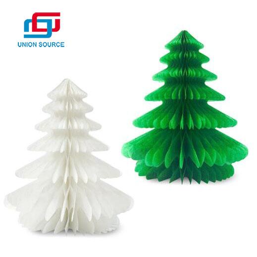 Venta caliente adornos navideños que cuelgan el árbol de navidad de panal de papel