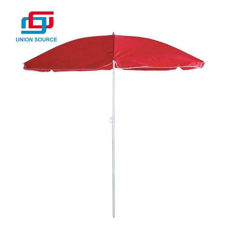 Sombrilla de playa de poliéster impresa personalizada de venta caliente