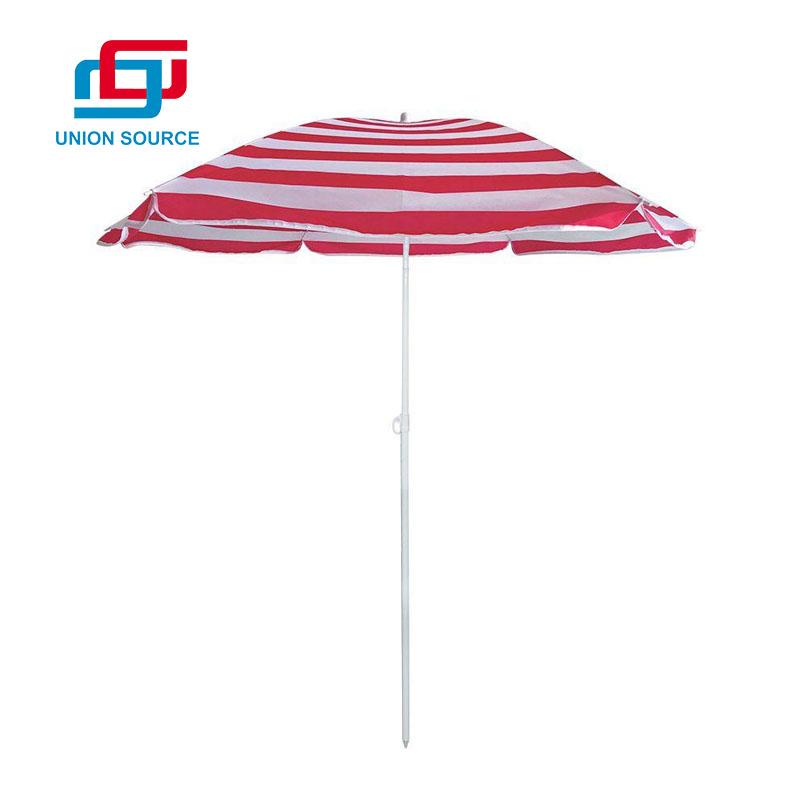 Sombrilla de playa modificada para requisitos particulares venta caliente de la impresión completa de la raya con la inclinación