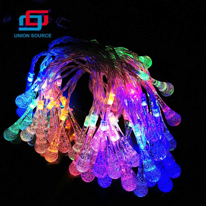 Ice Drop Shaped LED Garland Light For Christmas Decoration