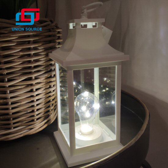 Indoor Decoration Outdoor Hanging Camping Warmer LED Light Garden Carriage Lantern