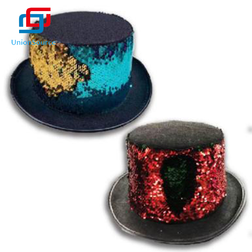 Jazz Hat Bright  Sequins Performing Bling For Party