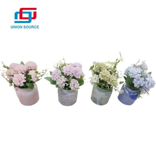 Plantas azules y blancas del estilo del Hydrangea de las macetas de la porcelana del precio bajo para la decoración casera