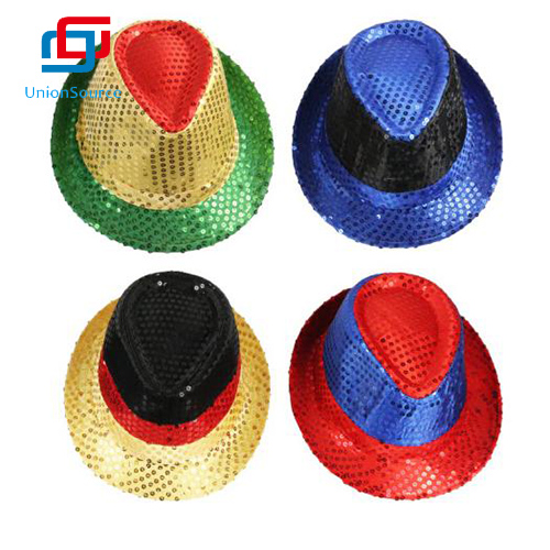 Sequin Jazz Hat Party With Disco Club Style For Adults