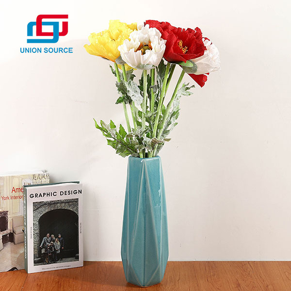 Multi Colors Poppy Florwers High Simulation For Home And Wedding Decoration