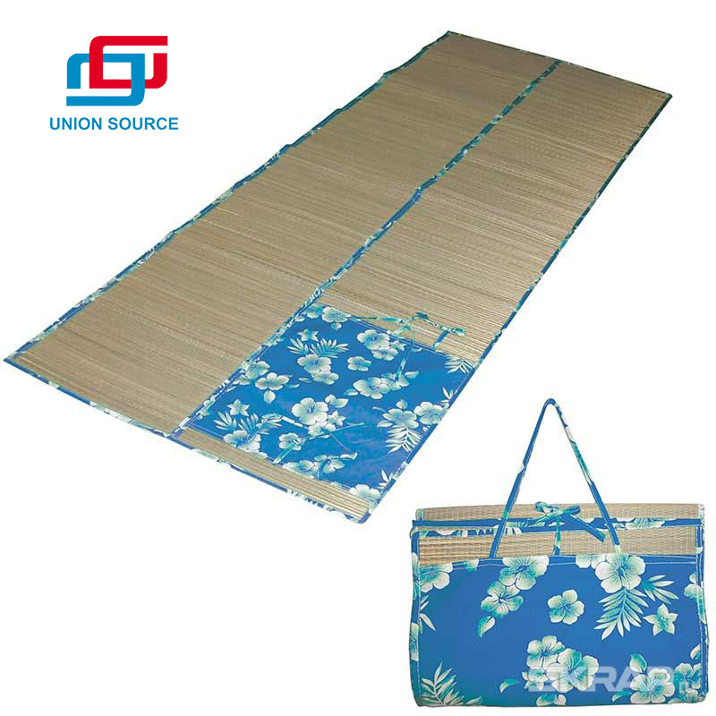 New Arrival Customized Folding Straw Beach Mat