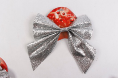 New Design Holiday Party Ribbon Bow Xmas Tree Ornament Red Christmas Bows