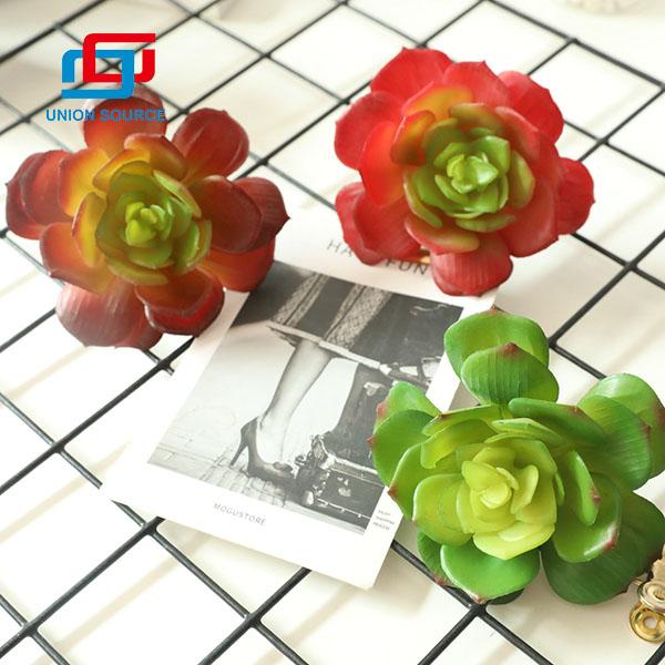 Plantas carnosas artificiales del nuevo estilo Snow Lotus con cuerno redondeado para el hogar