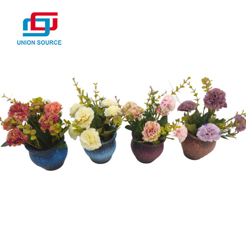 New Style Terracotta Pot European Rose Artificial Plants For Home