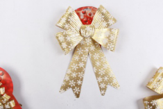 New Year Beautiful Xmas Big Bow-knot Christmas Tree Hanging Ornament Home Decoration Made In China