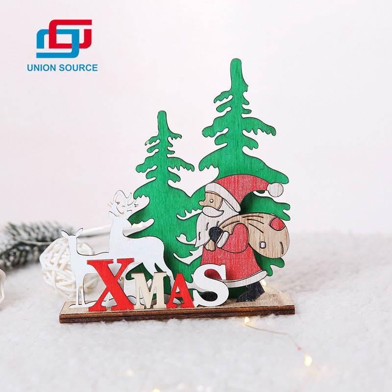Newest Design Christmas Wooden Status For House Decoration