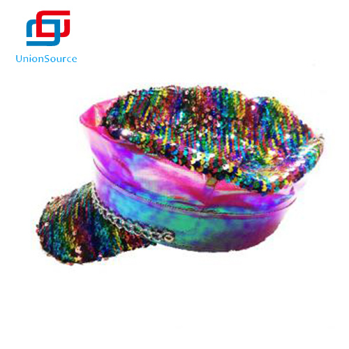 Party Ladies' And Girls Accessorize Monsoon Colorful Sequin Beret Fashion Trimming Sequin Hat