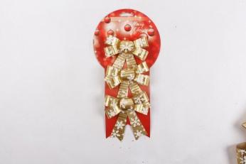 স্টক ক্রিসমাস আইটেমের প্রকার ইনডোর সজ্জাতে পার্টি রিবন বো ক্রিসমাস ট্রি অলঙ্কার লাল বো-গিঁট