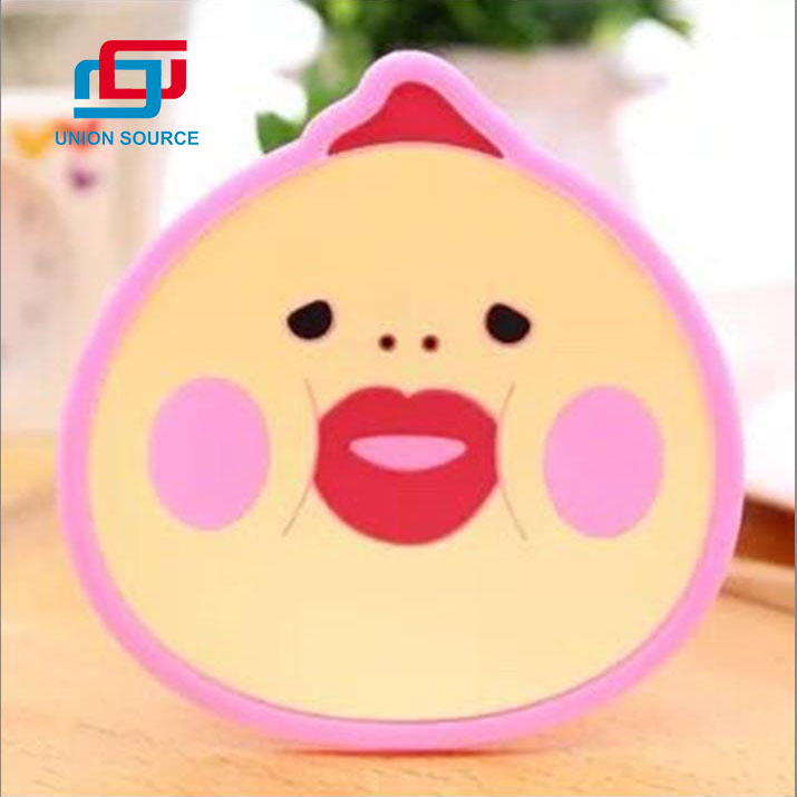 Pink Color Coaster With Customized Design