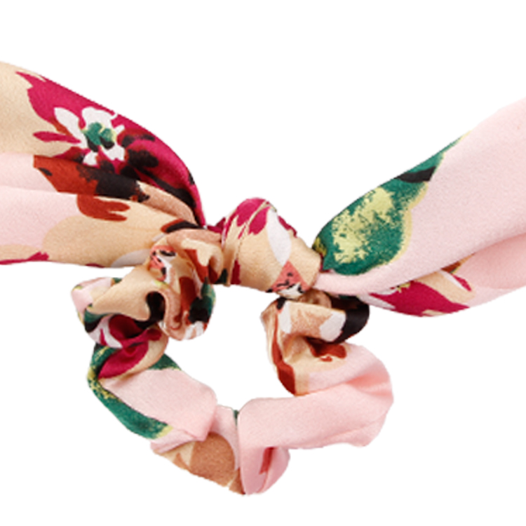 Pink Hair Band With Flower Design