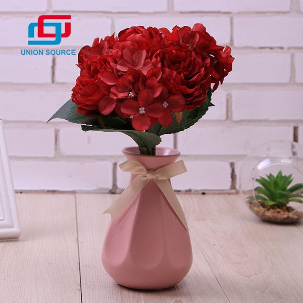 Műanyag virág bazsarózsa csokor magas szimuláció otthoni és kerti dekoráció