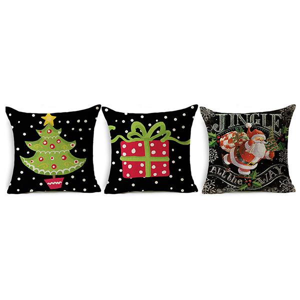 Promotional Cheap Christmas Linen Pillowcase Home Ornament For Sale
