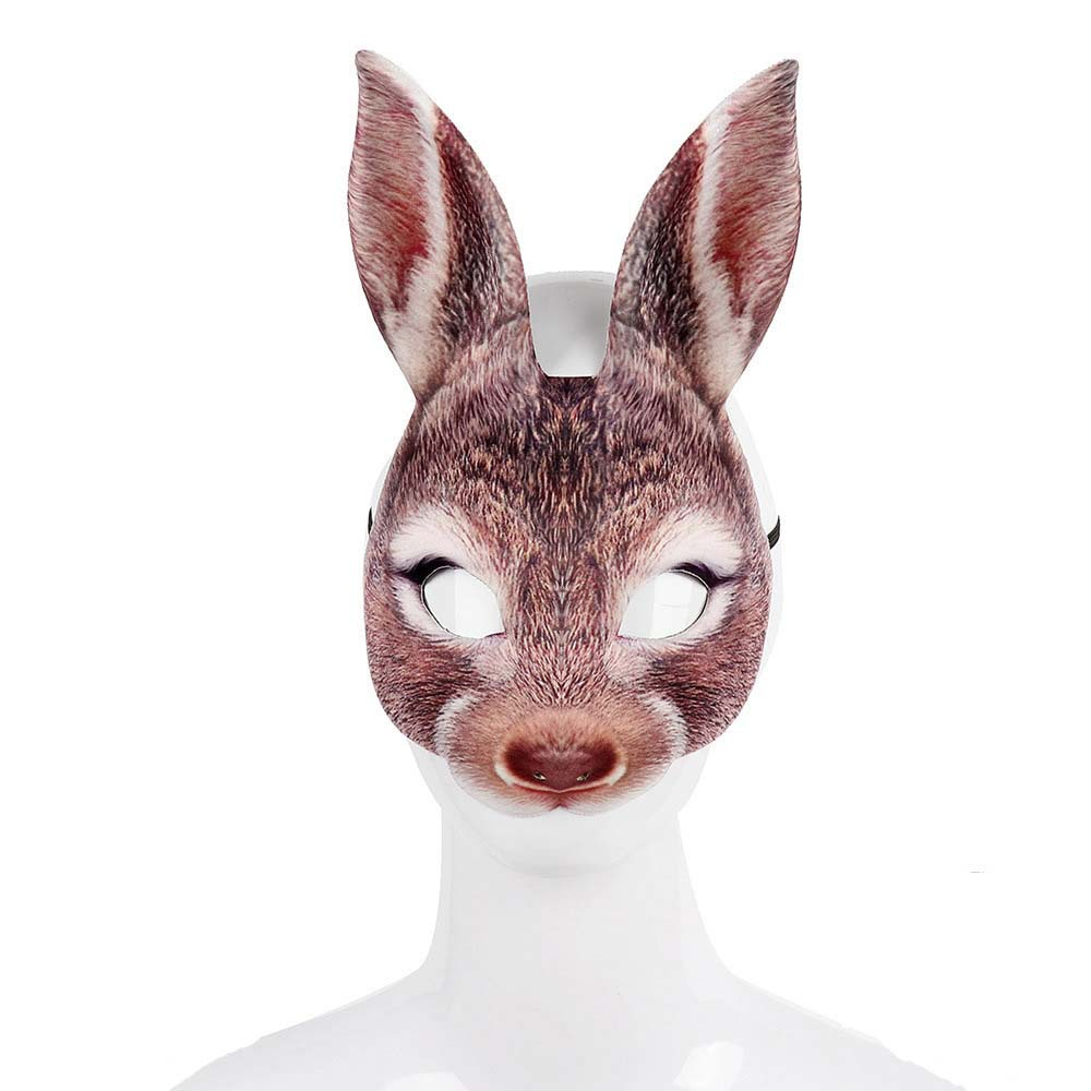 Rabbit Shaped Carnival Mask With Customized Color