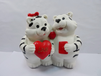 Recent Design Home Decoration Xmas Tiger Resin Money Pot Varieties Of Style Made In China