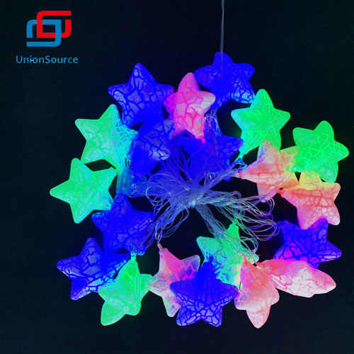 Star Head LED Garland With Colorful Light