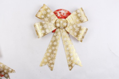 Supplier Xmas Bow-knot Holiday Party Ribbon Ornament Home Decoration For Sale