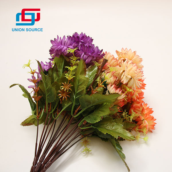 Top Sale 5 Heads Chrysanthemum Morifolium Artificial Bouquet For Home And Garden Usage