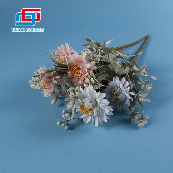 Flores plásticas del ramo artificial de la venta superior para la decoración casera