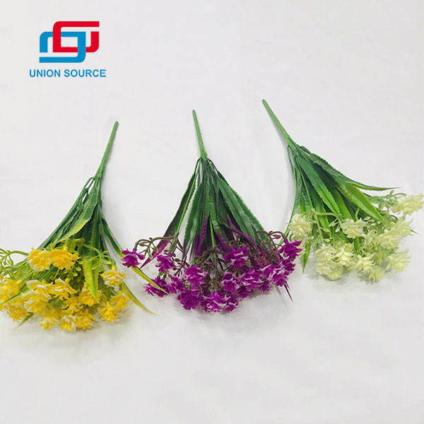 Top Sale High Simulation Matched Grass Plants 5 Heads For Home And Wedding Decoration