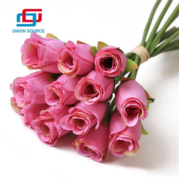 Top Sale Plastic 12 Heads Artificial Flowers Bride Bouquet For Home Decoration