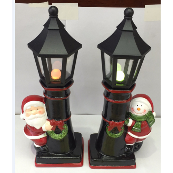 Wholesale Ceramic Lighting Decoration Creative Christmas Home Decoration Sculpture