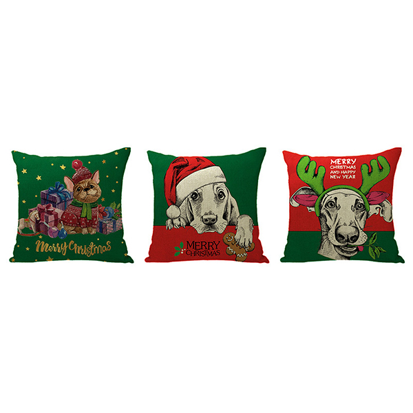 Wholesale Cute Style Christmas Cartoon Pattern Soft Cover Home Linen Pillowcase
