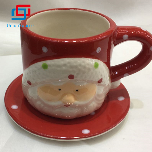 Wholesale Light Luxury Christmas Mug Coffee Flower Tea Ceramics Cup Household Water Gift Cup