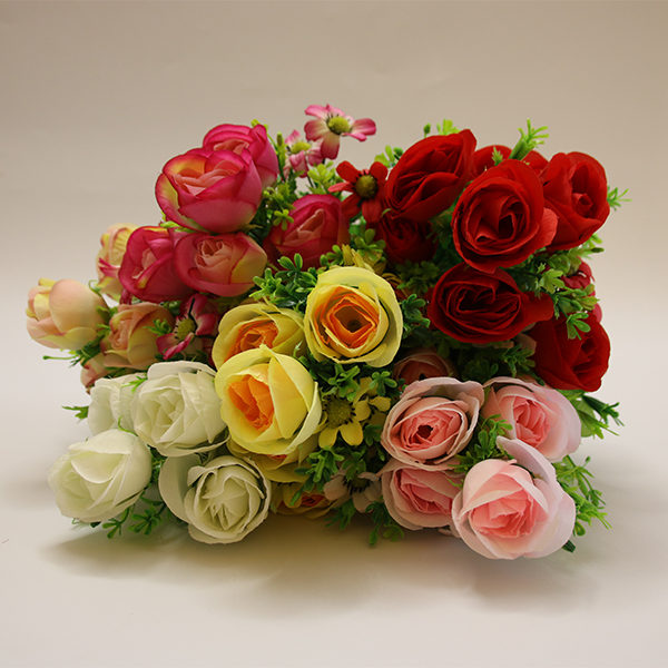 Wholesale Price 9 Heads Artificial Bouquet Rose Flowers For Home Decoration