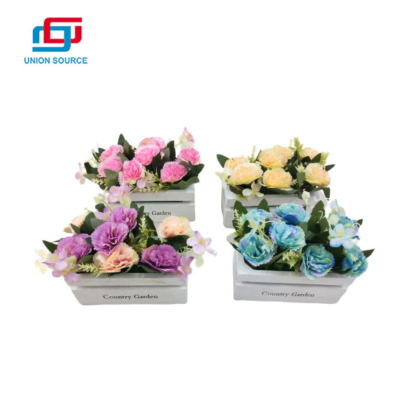 Wholesale Price Decorative Artificial Potted Plants Fence Rose For Decoration