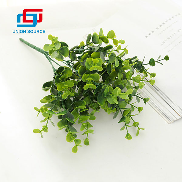 Wholesale Price Decorative High Simulation Eucalyptus Money Leaf Matched Grasses For Wedding And Home Decoration