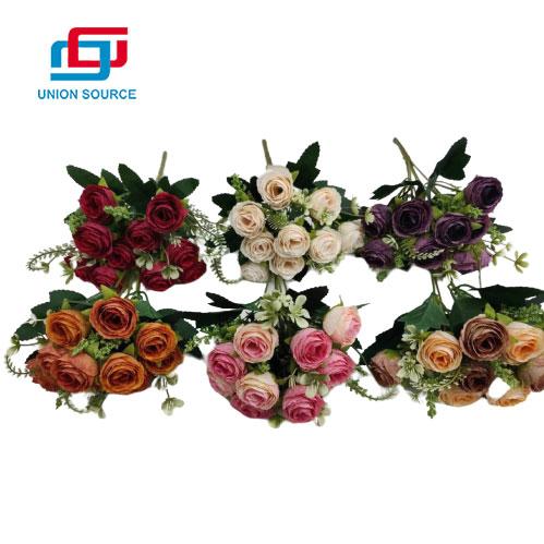 Precio al por mayor ramo de rosas de pericardio para decoración del hogar y la boda